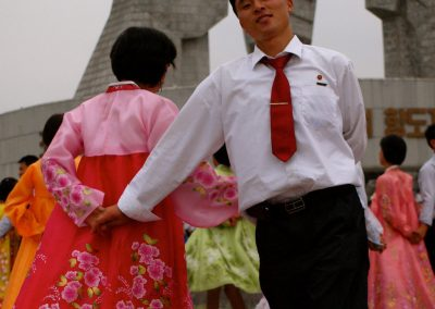 A-couple-took-part-in-an-organized-mass-dance-in-Pyongyang-on-National-Day