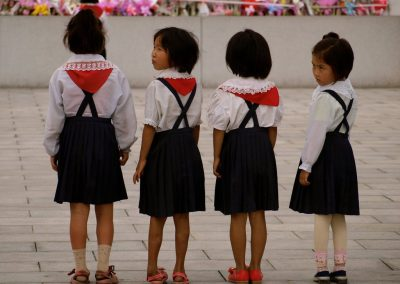 North-Korean-schoolchildren-visited-a-national-monument-in-Pyongyang